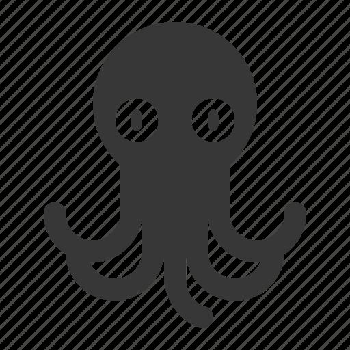 aquatic animal, ocean, ocean animal, octopus, sea icon