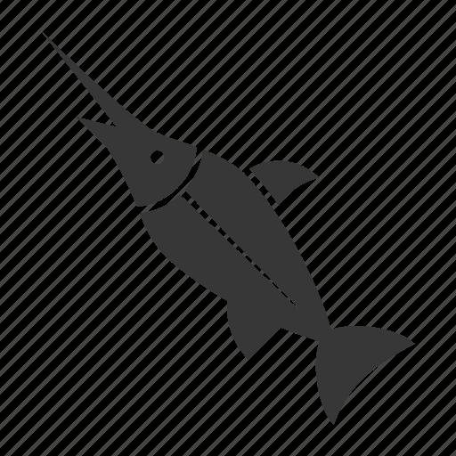 aquatic animal, fish, ocean, ocean animal, sea, swordfish icon