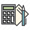 accounting, business, calculator, data, finance, financial, office icon