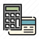 business, calculator, card, concept, credit, money, office icon