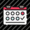 business, calendar, date, day, office, organizer, schedule icon