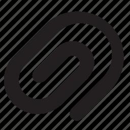 attach, attachment, page, paper clip, sheet icon