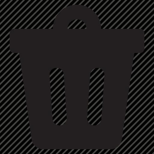 bin, delete, recycle, trash, trashcan icon