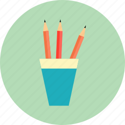 cup, draw, edit, education, pencil, pencil case, write icon