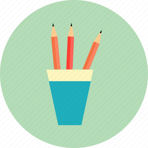 cup, draw, edit, education, pencil, pencil case, write icon