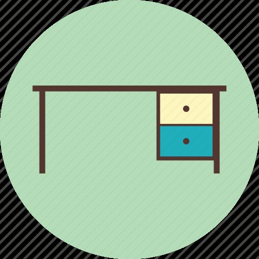 desk, education, furniture, interior, school icon