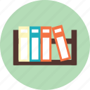 book, bookshelf, file, furniture icon