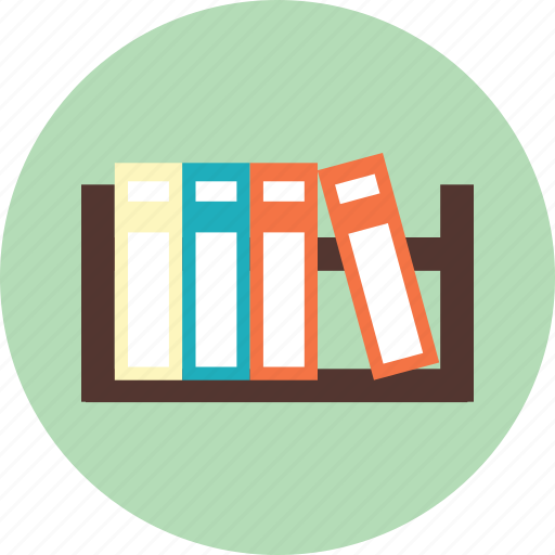 book, bookshelf, file, furniture icon