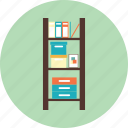 book, bookshelf, education, file, furniture, interior icon