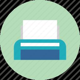 device, paper, print, printer, work icon