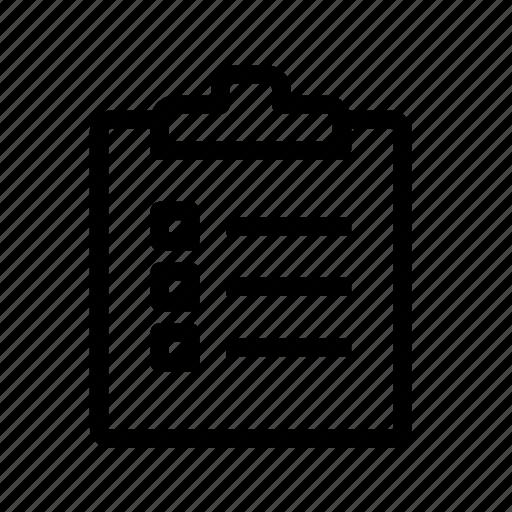 check, checklist, clipboard, document, list icon