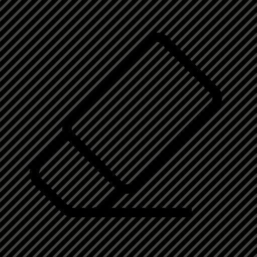 delete, eraser, remove, rubber icon