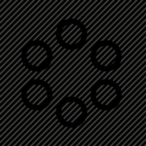circle, load, loader, loading, ring icon