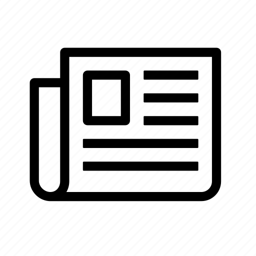 article, communication, media, news, newspaper icon