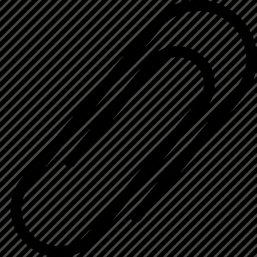 clip, office, paper clip icon