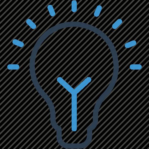 Blub, bright, idea, lightbulb, solution icon - Download on Iconfinder