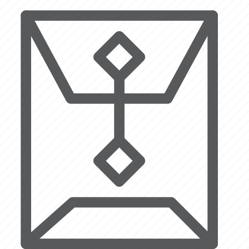 document, envelope, folder, office, seal, supplies icon
