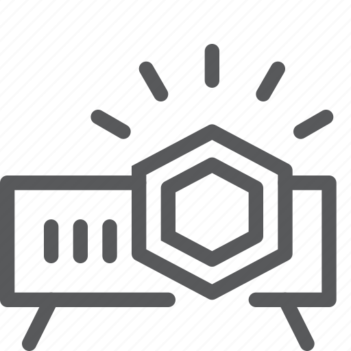 beamer, device, front, office, presentation, projector, supplies icon