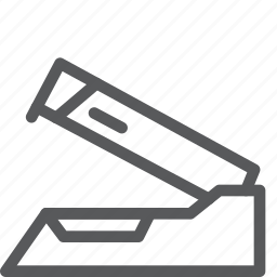 attach, clip, connect, office, stapler, supplies, tool icon