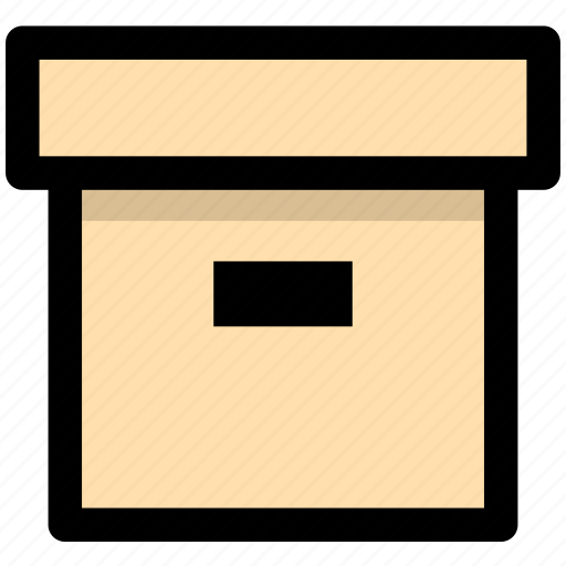archives, box, documents icon