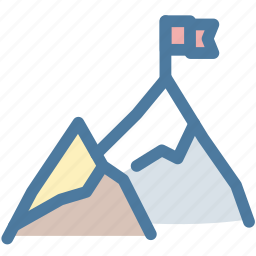 aim, best, flag, leader, mountains, office, top icon