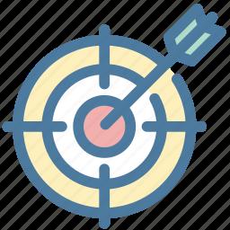 aim, bullseye, darts, office, purpose, strategy, target icon
