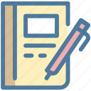 compose, office, page, paper, pencil, text, write icon