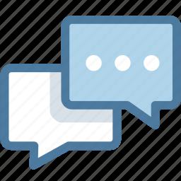 bubble, chat, comment, communication, dialogue, messages, talk icon