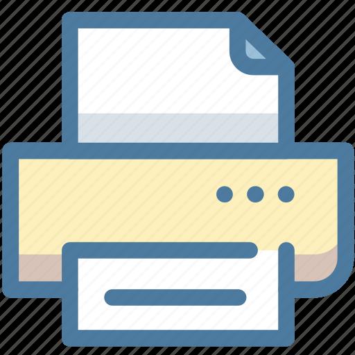 document, machine, office, paper, print, printer, text icon