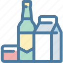 bottle, carton, object, package, packing, product icon