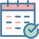 calendar, done, office, planning, schedule, success, task icon