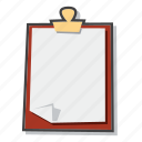 clipboard, document, file icon