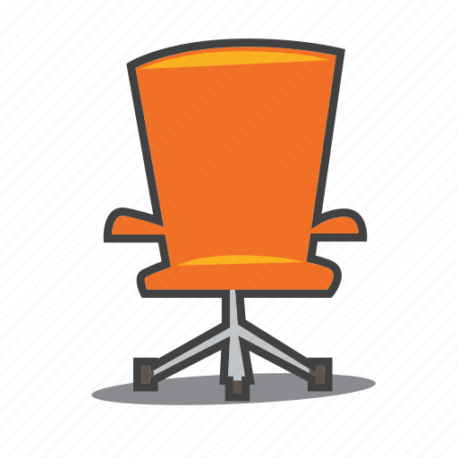 chair, furniture, office icon
