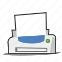 office supplies, printer, printing icon