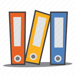 files, folder, ring binders icon