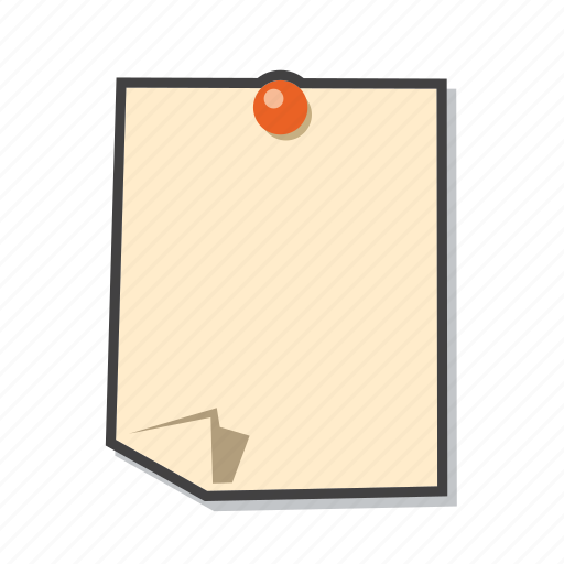 memo, post it, reminder, sticky note icon