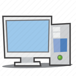 computer, desktop, monitor icon