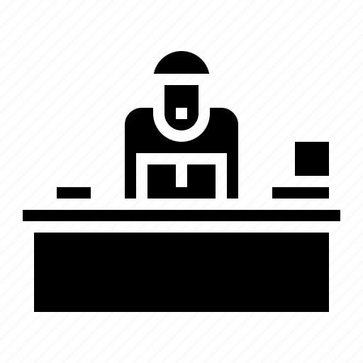 businessman, ceo, employees, office icon