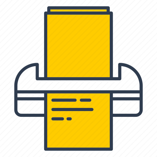 document, file, office, print, print out icon