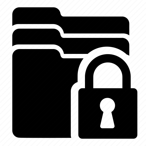 document, folder, lock, secure, storage icon