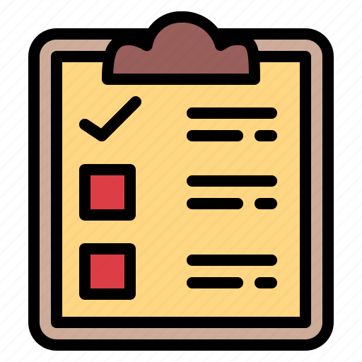 clipboard, list, tasks, verification icon