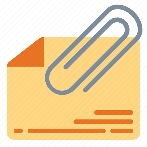 attach, attachment, material, office, tool icon
