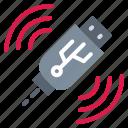 data, file, pendrive, storage, usb icon