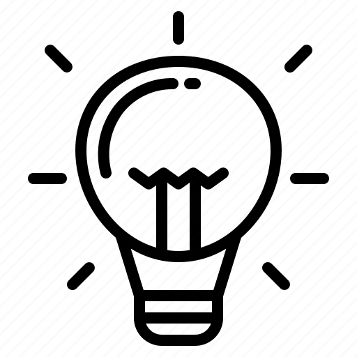creativity, inspiration, lightbulb, lighting icon