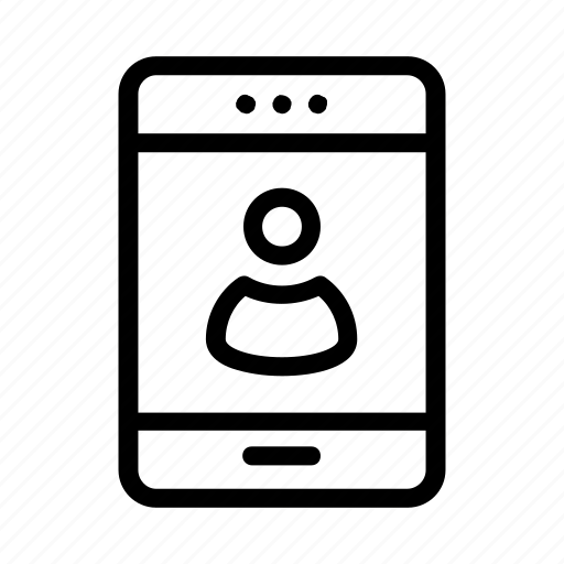 account, login, mobile, phone, profile icon