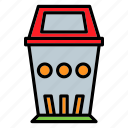 garbage, office, recycle bin, trash icon