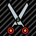 office, scissor, stationery, tool, work icon