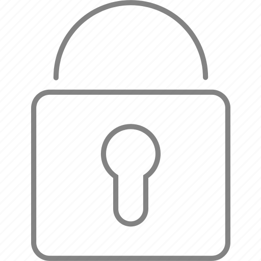 block, padlock, privacy, secure, security icon