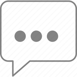 balloon, comment, social, speak, speech, talk, write icon