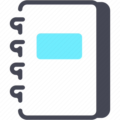 book, document, file, office, paper icon